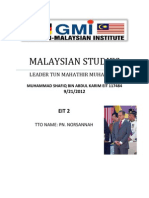 Malaysian Studies Assigement