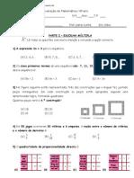 02.2012 - 2.ºP - Sequências e Regularidades, Porp. Directa e escalas - Cristopher
