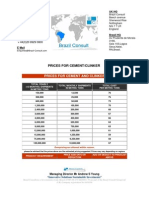 Cement Prices Brazil Consult 2009 2