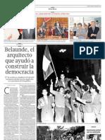 Belaunde, el arquitecto que ayudó a construir la democracia