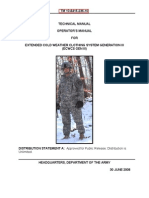 TM 10-8415-236-10   TECHNICAL MANUAL  OPERATOR'S MANUAL  FOR  EXTENDED COLD WEATHER CLOTHING SYSTEM GENERATION III