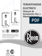 Manual Termotanques Rheem - Linea Electrica