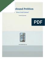 Prayer Profound Petition