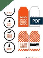 Etiquetas Halloween Naranja