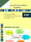 Info for Dyslexic Students Slovenia