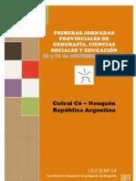 Circular de las primeras Jornadas de Geografía Cs Sociales y Educación  ISFD nº 14 (1)
