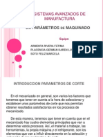 3.5 PARÁMETROS de MAQUINADO
