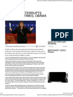 Crowley Interrupts Romney 28 Times, Obama Just 9