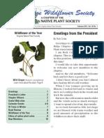 Spring 2011 Blue Ridge Wild Flower Society Newsletter