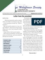 Fall 2011 Blue Ridge Wild Flower Society Newsletter