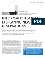 Reservations Information Screen
