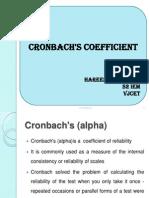 Cronbach Coefficient