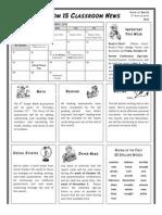 class newsletter oct 15 2012