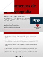 Fundamentos de la biogeografía