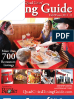 Quad City Dining Guide - FallWinter 2012-13 - Published by the River Cities' Reader