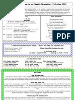 Newsletter 19-10-12