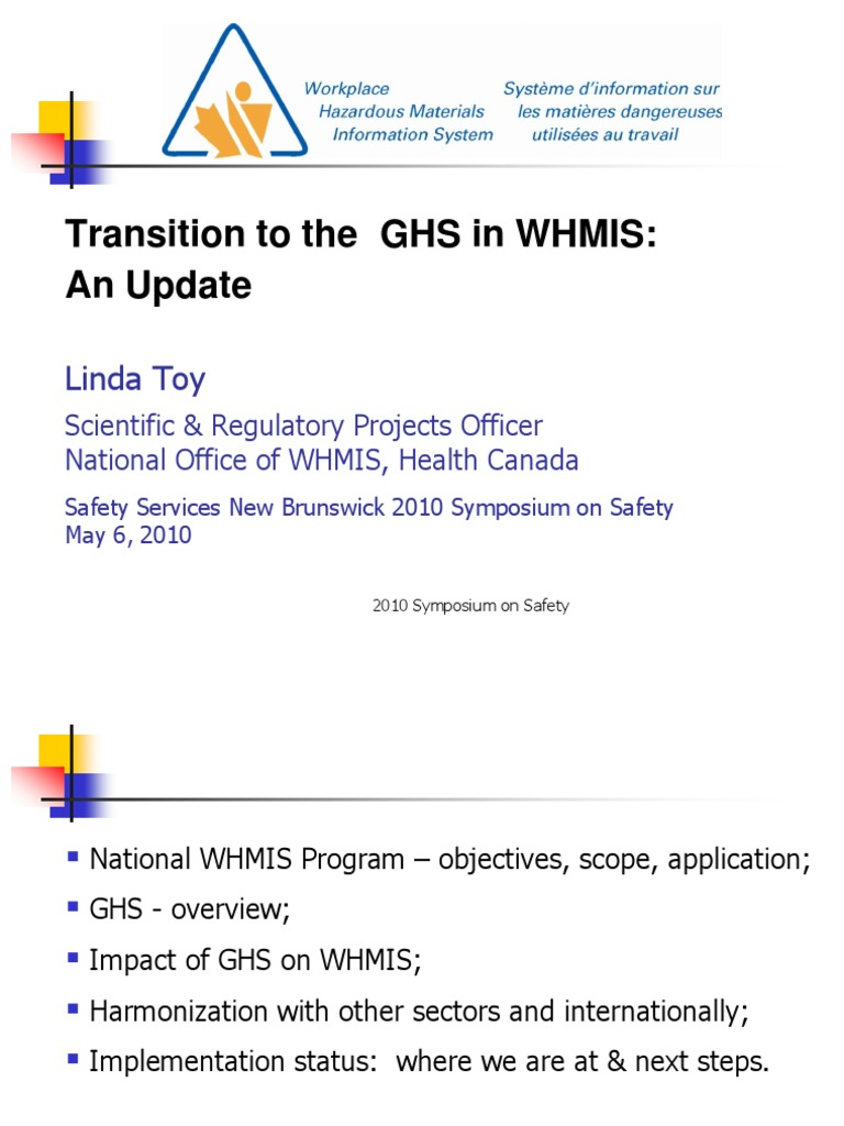 3b Transition Ghs In Whmis Linda Toy Toxicity Dangerous Goods