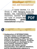 Global, Multinational International, And Transnational Companies
