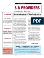 Payers & Providers California Edition – Issue of October 18, 2012