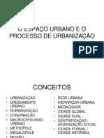 urbanização e seu processo
