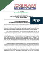 PROGRAM Pelatihan Aplikasi Sistem Teknologi Informasi Koperasi Simpan Pinjam