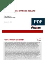 Verizon Q3 2012 Earnings Release Slides[1]