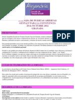 Informacion Jornada Gestalt Para La Convivencia