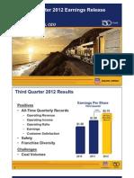 Union Pacific Q3 2012 EPS Slides