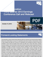 USG Earnings Call Presentation Q3 2012 FINAL KRB