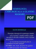 Semiologia Chirurgicala a Glandei Mamare
