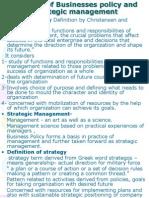 Concept of Strategic Management