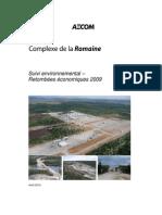 Complexe de la Romaine – suivi environnemental et retombées économiques 2009 (étude d'AECOM Tecsult)