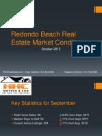Redondo Beach Real Estate Market Conditions October 2012