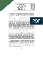 Foucault- Nietzsche Genealogy History