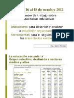 Revisión estadistica de la educación secundaria