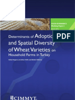 Determinants of adoption and spatial diversity of wheat varieties on household farms in Turkey