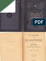 El Vaticano y Los Masones. Leo Taxil. 1887.