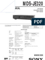 Sony MDS-JE320 Service Manual