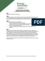 Energy Efficiency Fundamentals Energy University Course Transcript