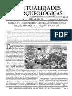 PASTRANA, Alejandro & Patricia Fournier. 1997. Cuicuilco desde Cuicuilco. Actualidades Arqueológicas 13:7-9. IIA, Universidad Nacional Autónoma de México, México.