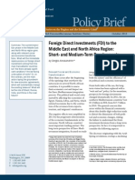 Foreign Direct Investments (FDI) to the Middle East and North Africa Region
