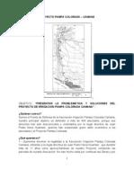 Pampa Colorada - Camaná. Resumen Problemática y Soluciones