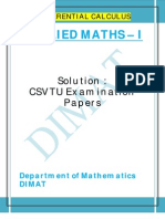 Applied Maths i u II Solution