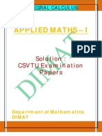 Applied Maths i u III Solution