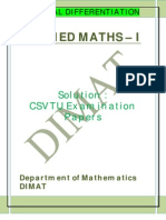 Applied Maths i u IV Solution
