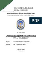 Tesis -Modelo de Gestion de Calidad Para Centros de Distribucion de Rr Hidrobiologicos