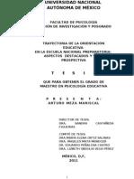 Trayectoria de la orientacion educativa en la escuela nacional preparatoria unam