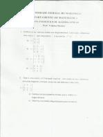 Álgebra Linear Lista 6
