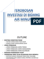 Terobosan Investasi Air Minum