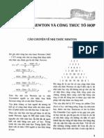 Nhị thức Newton và công thức tổ hợp